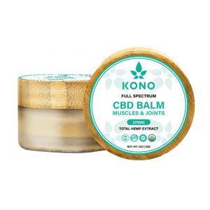 full spectrum cbd balm with white background